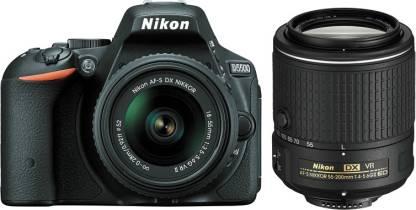 NIKON D5500 DSLR Camera Body with Dual Lens: AF-P 18-55mm VR + AF-S 55-200mm VRII Kit Lenses (16 GB SD Card + Camera Bag)