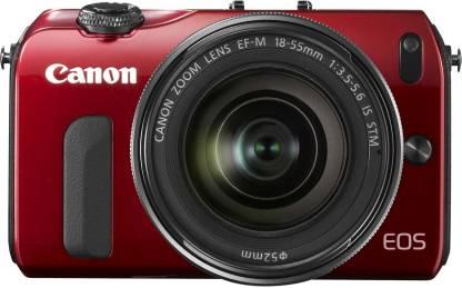 Canon EOS-M Body with 18-55 mm Lens & Speedlite-90x Flash Mirrorless Camera
