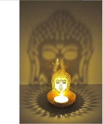 Dazzle Buddha Shadow Diya Candle