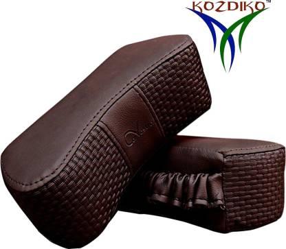 KOZDIKO Brown Leatherite Car Pillow Cushion for Maruti Suzuki