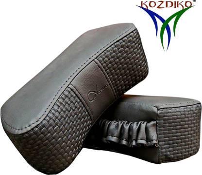KOZDIKO Grey Leatherite Car Pillow Cushion for Maruti Suzuki