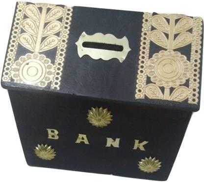 You2Deal Wooden Handicraft Antique Style Money Bank Children Gift Item Toy Coin Bank