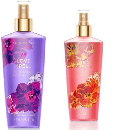Victoria's secret Fragrance Body Mist Set Love Spell And Passion Struck For Women (250 Ml X 2) Combo Set
