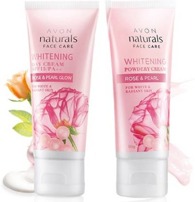AVON Rose & Pearl Day SPF15/PA++ (50g) & Powdery Night (50g) Cream Combo Pack