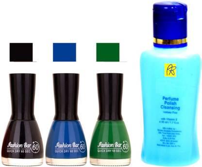 Fashion Bar Nail Polish Remover Black,Blue ,Green Shades Nail Polish 52440