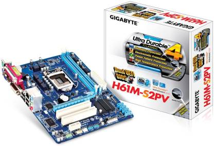 GIGABYTE H61+Dual Core+Ram DDR3 4GB Combo Motherboard