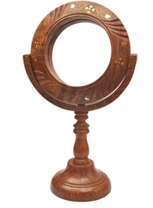 Artist Haat Wooden Handicraft beautiful cutter Mirror stands