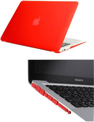 PINDIA Red Matte Finish Apple Macbook Pro 15 15.4 inch Ma895hn/A Ma895ll/A Hard Case Shell Cover Anti Dust Ports Combo Set