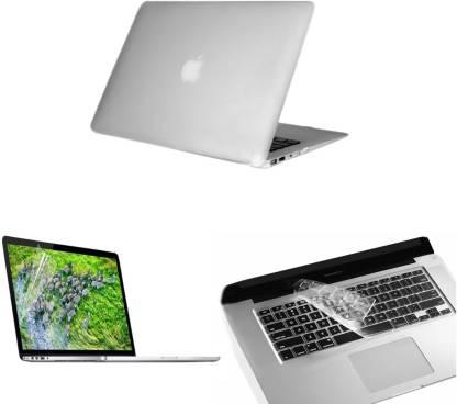 PINDIA Transparent Matte Finish Apple Macbook Pro 15, 15.4 Inch Mc118hn/A Mc118ll/A Hard Case Shell, Keyboard Skin and Screen Guard Combo Set