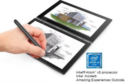 Lenovo Yoga Book Atom Quad Core - (4 GB/64 GB EMMC Storage/Windows 10 Home) yb1-x91l 2 in 1 Laptop