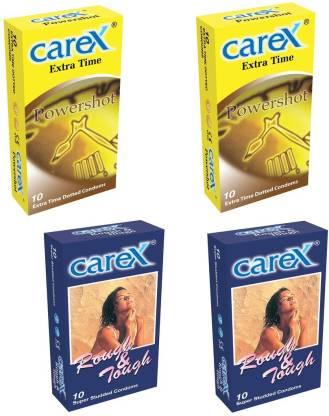 CAREX Powershot x 2 and Rough & Tough x 2 Condom