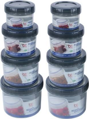 Bel Casa Lock & Store Spin  - 150 ml, 500 ml, 300 ml, 730 ml Polypropylene Grocery Container