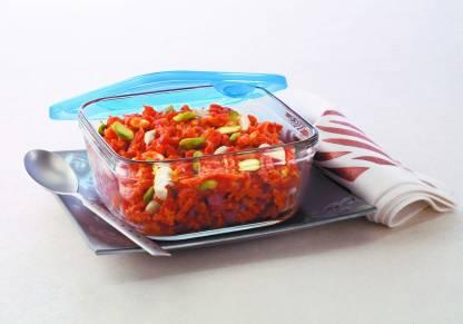 BOROSIL 3 in 1 sQUARE Dish 1L  - 1000 ml Glass Grocery Container