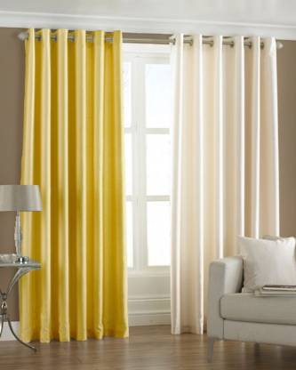 Homefab India 274.5 cm (9 ft) Polyester Long Door Curtain (Pack Of 2)
