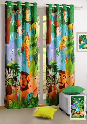 SWAYAM 228 cm (7 ft) Polyester Door Curtain Single Curtain