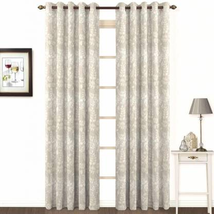 SKIPPER 153 cm (5 ft) Cotton Window Curtain (Pack Of 2)