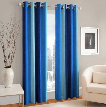 BLUE 213 cm (7 ft) Polyester Door Curtain (Pack Of 2) - Buy BLUE 213 cm (7  ft) Polyester Door Curtain (Pack Of 2) Online at Best Price in India |  Flipkart.com