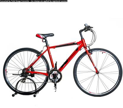 COSMIC Shuffle Hybrid 700c Red 28 T Hybrid Cycle/City Bike
