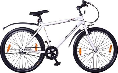 Hero Urban 26 T Hybrid Cycle/City Bike   Single Speed, White  Hero Cycles