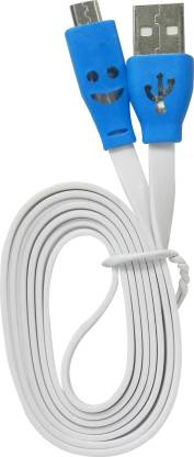 Amaze Fashion Lighting Smile Face Charging Data Cable for Lenovo P770 1 m Micro USB Cable