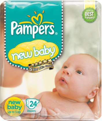Pampers New baby Diapers Taped Newborn Size