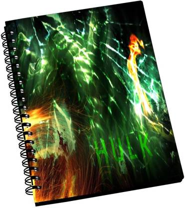 AMY Incredible Hulk Firey Art A5 Notebook Ruled 288 Pages