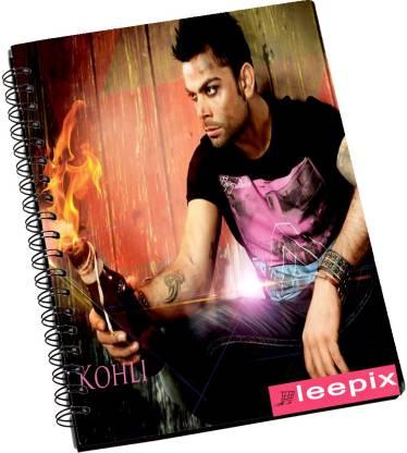 Leepix IPL Virat Kohli A5 Notebook Ruled 200 Pages