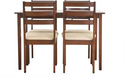 Nesta Furniture Chevron Solid Wood 4 Seater Dining Set