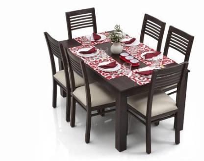 Urban Ladder Arabia Solid Wood 6 Seater Dining Table Price In India Buy Urban Ladder Arabia Solid Wood 6 Seater Dining Table Online At Flipkart Com