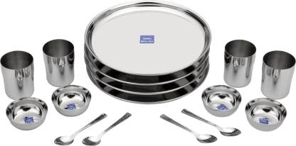 bhalaria Pack of 16 Stainless Steel Dinner Set