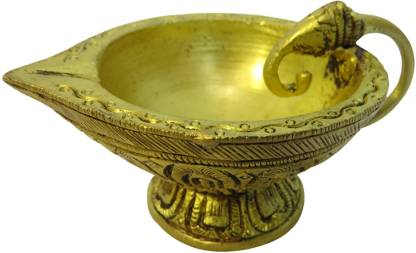 Suriti Elephant Brass Table Diya