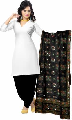 Zaributi Cotton Blend Embroidered Women Dupatta