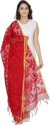Loom Legacy Cotton Silk Woven Women Dupatta