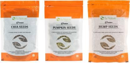 By Nature Chia Seeds, Pumpkin Seeds, Hemp Seeds