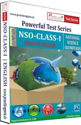 Practice guru Powerful Test Series - NSO Medium English (Class - 1)