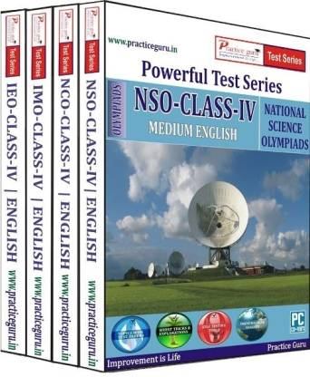 Practice guru Powerful Test Series (IMO / NSO / IEO / NCO) Medium English (Class - 4) (Combo Pack)