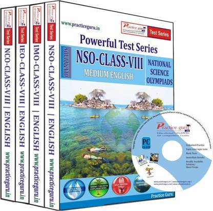 Practice guru Class 8 - Combo Pack (IMO / NSO / IEO / NCO) Test Series