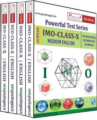 Practice guru Powerful Test Series (IMO / NSO / IEO / NCO) Medium English (Class - 10) (Combo Pack)