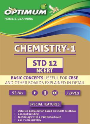 Optimum Educators Educational DVDs 12 CBSE/NCERT-Chemistry-Vol-1