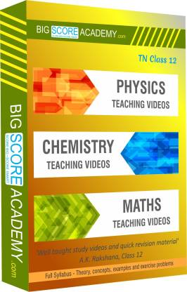 BigScoreAcademy.com Tamil Nadu Samacheer Kalvi Class 12 Combo Pack - Physics, Chemistry and Maths Full Syllabus Teaching Video