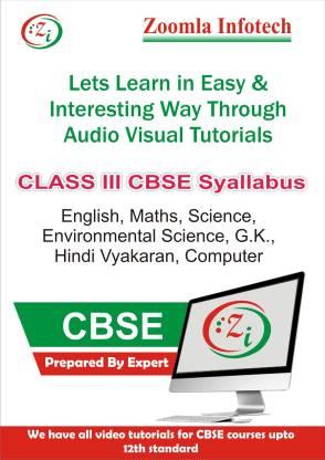 Zoomla Infotech Class 3 CBSE English, Maths, Science, Environmental Science, G.k., Hindi Vyakaran, Computer Video Tutorials