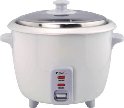 Pigeon Favourite Electric Rice Cooker with Steaming Feature