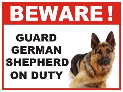GERMAN SHEPHERD ROAD Rd Metal Street Sign 6 x 24 Dog Wall Art Gift