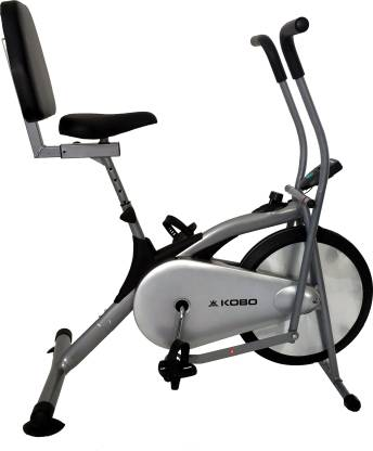 KOBO Air Delux Cycle With Back Rest Upright Stationary Exercise Bike