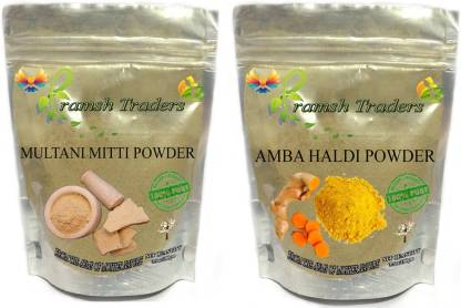 Pramsh AMBA HALDI 100GM + MULTANI MITTI 100GM POWDER