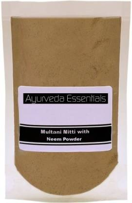 Ayurveda Essentials 100% Pure and Natural Multani Mitti with Neem Powder