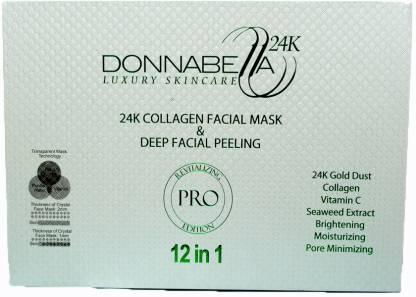 Donna Bella 24k Collagen facial mask and peeling