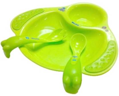 PUR Walrus Plate with Fork and Spoon  - Plastic