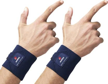 Omtex Adjustable Wrist Support Hand Grip/Fitness Grip Blue  Omtex Hand Grips