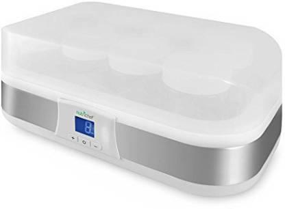Nutrichef PKYM80 - Electronic Yogurt Maker Machine with Digital Display Timer Function - 8 Glass Jars Yogurt Maker